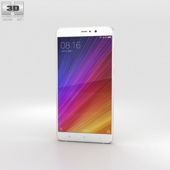 Xiaomi Mi 5s Plus Gold - 3DOcean Item for Sale