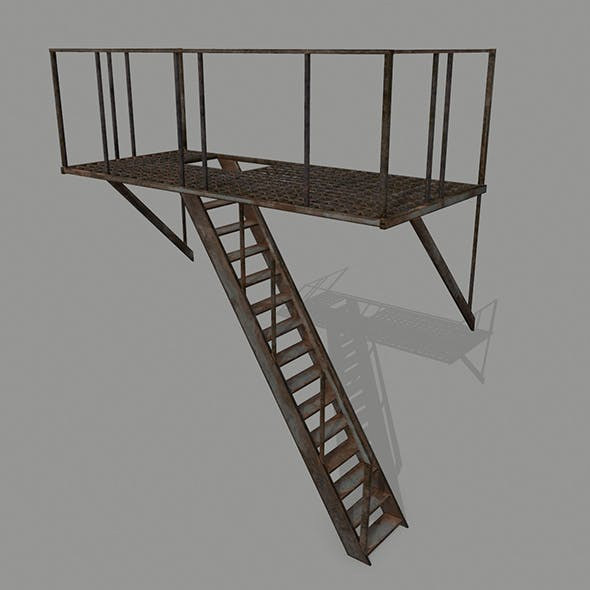 Fire Escape - 3DOcean Item for Sale