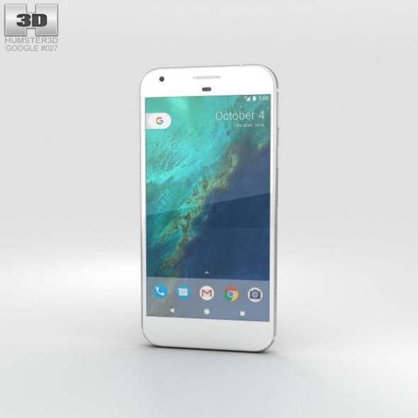 Google Pixel XL Quite Silver - 3DOcean Item for Sale