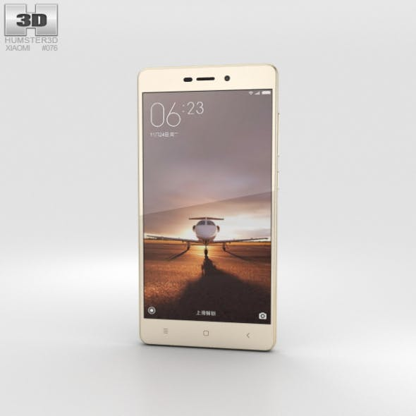 Xiaomi Redmi 3 Pro Gold - 3DOcean Item for Sale
