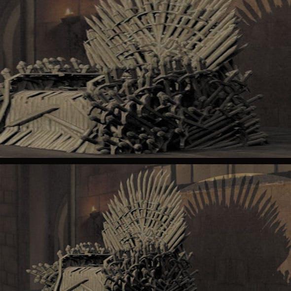 GOT 3d Throne model Low poly