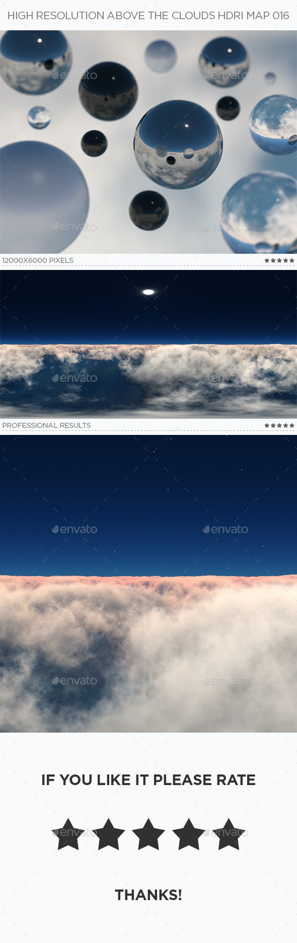 High Resolution Above The Clouds HDRi Map 016 - 3DOcean Item for Sale