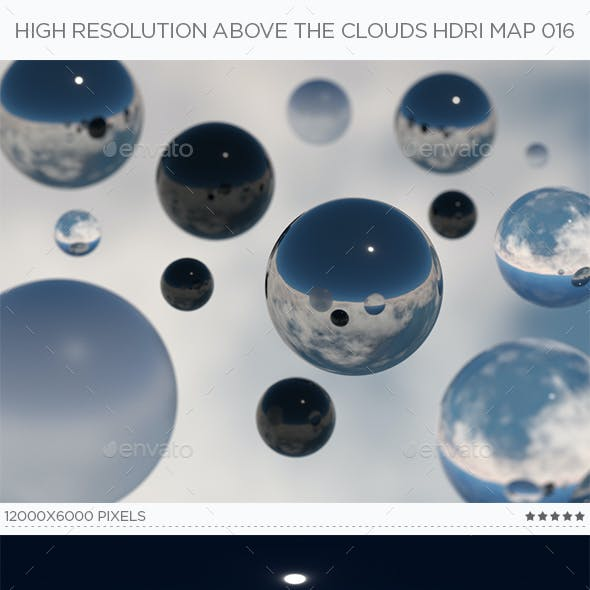 High Resolution Above The Clouds HDRi Map 016