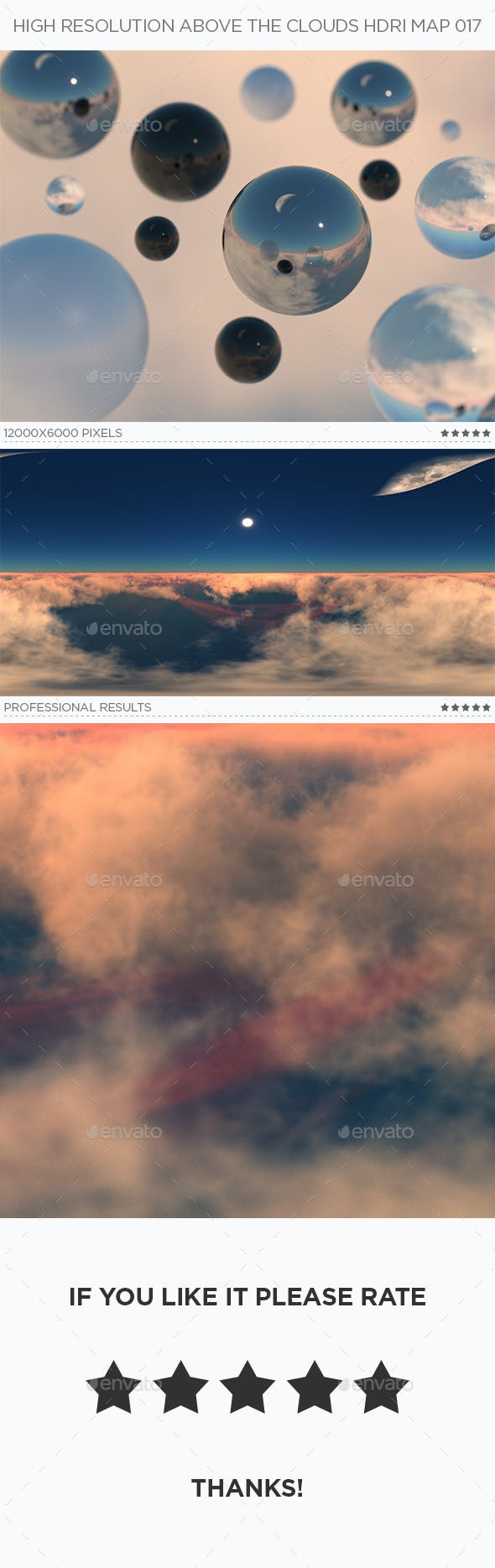 High Resolution Above The Clouds HDRi Map 017 - 3DOcean Item for Sale