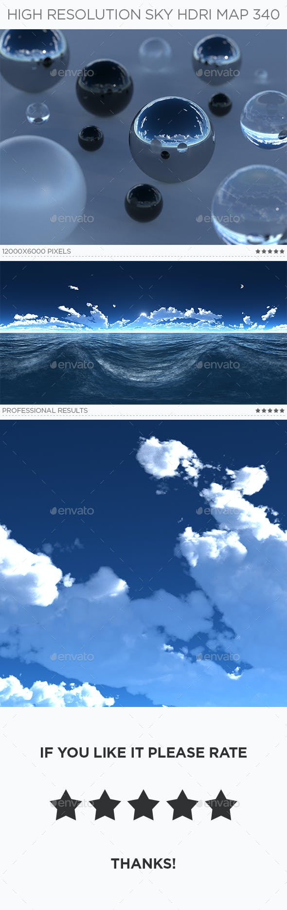 High Resolution Sky HDRi Map 340 - 3DOcean Item for Sale