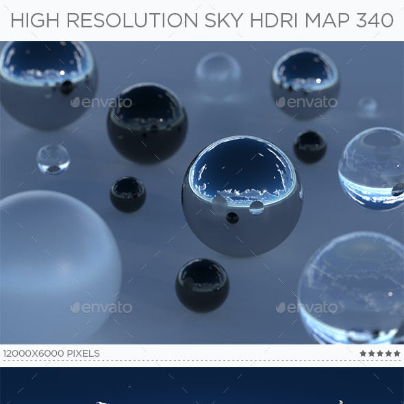 High Resolution Sky HDRi Map 340