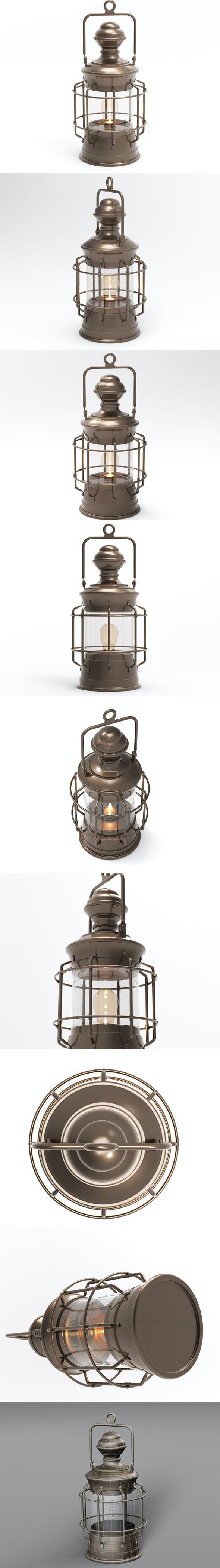 Antique Lantern - 3DOcean Item for Sale