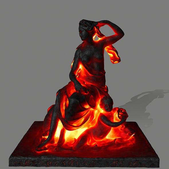lava statue - 3DOcean Item for Sale