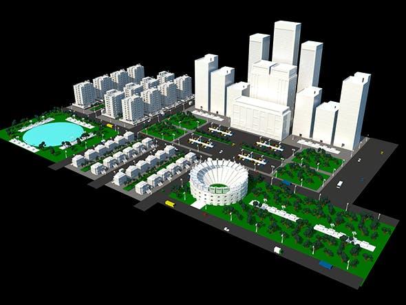 City 3D - 3DOcean Item for Sale