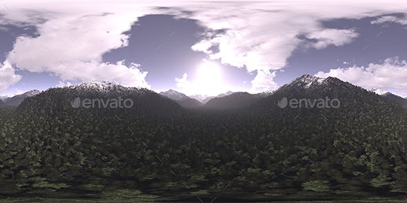 Late Morning Mountains HDRI Sky - 3DOcean Item for Sale