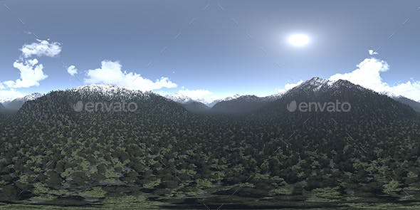 Noon Mountains HDRI Sky - 3DOcean Item for Sale