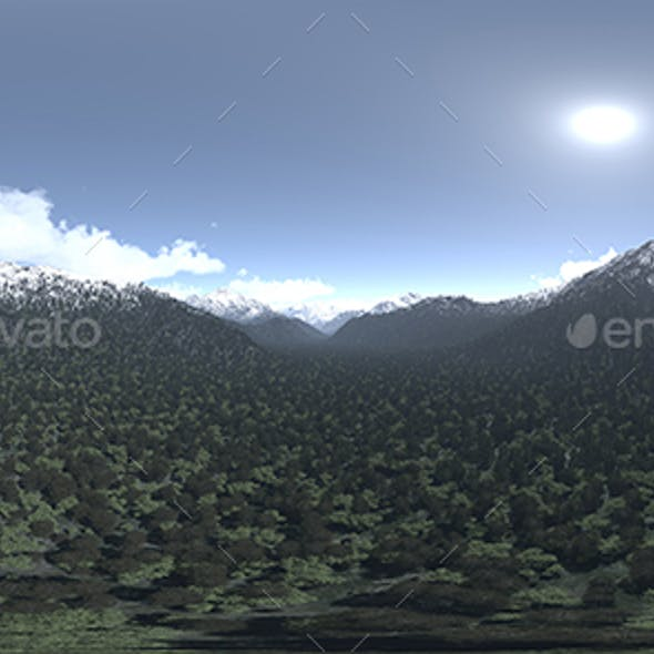 Noon Mountains HDRI Sky