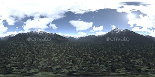 Afternoon Mountains HDRI Sky - 3DOcean Item for Sale