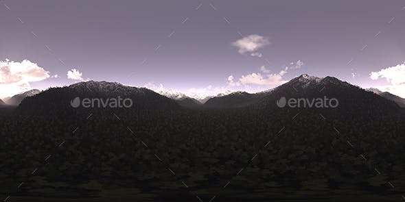 Early Evening Mountains HDRI Sky - 3DOcean Item for Sale