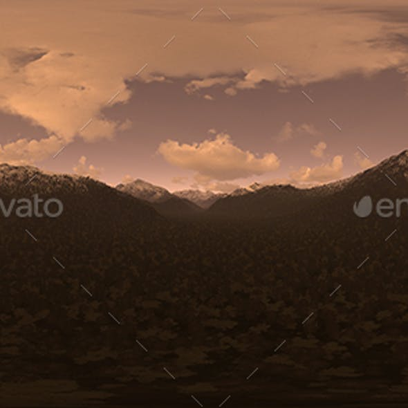Late Evening Desert Mountains HDRI Sky