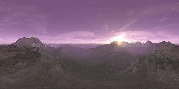 Early Morning Desert Mountains HDRI Sky - 3DOcean Item for Sale