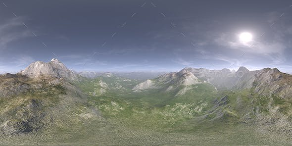 Before Noon Desert Mountains HDRI Sky - 3DOcean Item for Sale