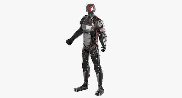 Alien Robot character - 3DOcean Item for Sale