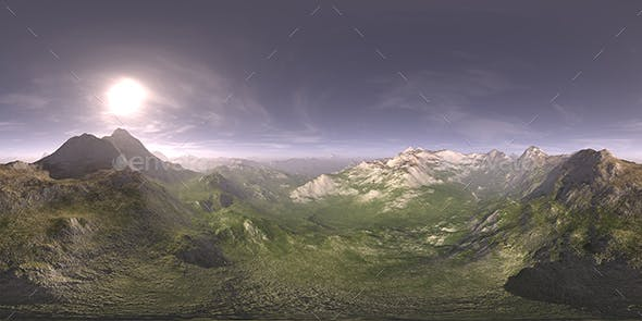 Late Afternoon Desert Mountains HDRI Sky by CGAxis | 3DOcean