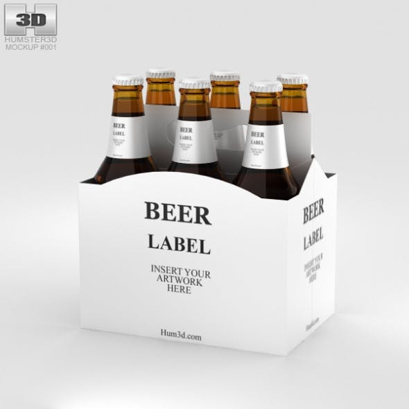 Paper Pack Beer Carrier Mockup - 3DOcean Item for Sale