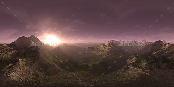 Evening Desert Mountains HDRI Sky - 3DOcean Item for Sale