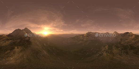 Late Evening Desert Mountains HDRI Sky - 3DOcean Item for Sale