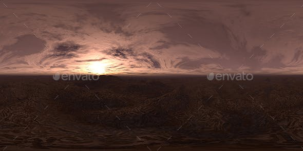 Late Evening Desert HDRI Sky - 3DOcean Item for Sale