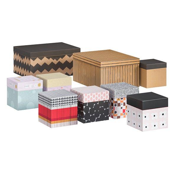 L3DV03G04 - boxes set - 3DOcean Item for Sale