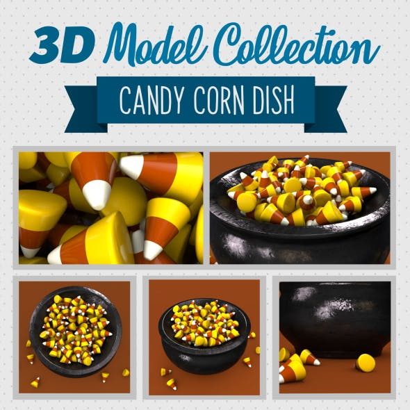 Candy Corn Dish - 3DOcean Item for Sale