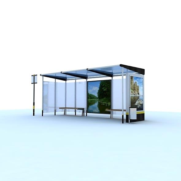 "Bus stop ""B"", Station ""B"", Street furniture, 3D - 3DOcean Item for Sale"