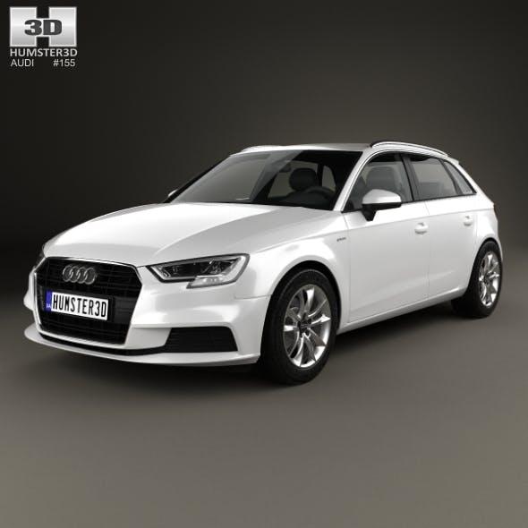Audi A3 Sportback g-tron 2016 - 3DOcean Item for Sale