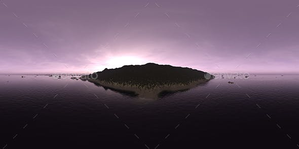 Early Morning Ocean Island HDRI Sky - 3DOcean Item for Sale