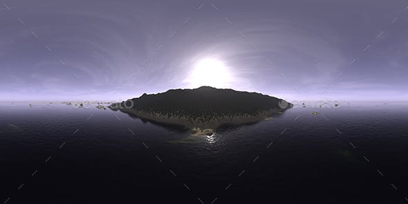Late Morning Ocean Island HDRI Sky - 3DOcean Item for Sale
