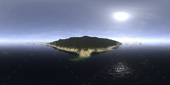 Noon Ocean Island HDRI Sky - 3DOcean Item for Sale