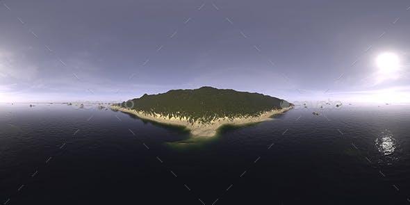 Late Afternoon Ocean Island HDRI Sky - 3DOcean Item for Sale