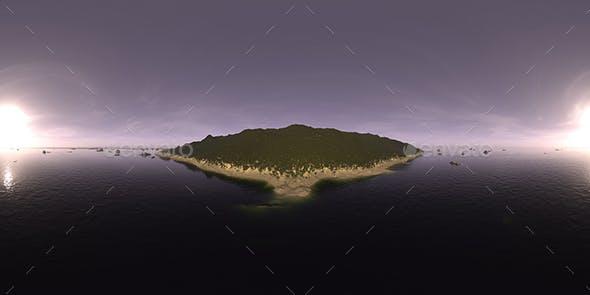 Early Evening Ocean Island HDRI Sky - 3DOcean Item for Sale
