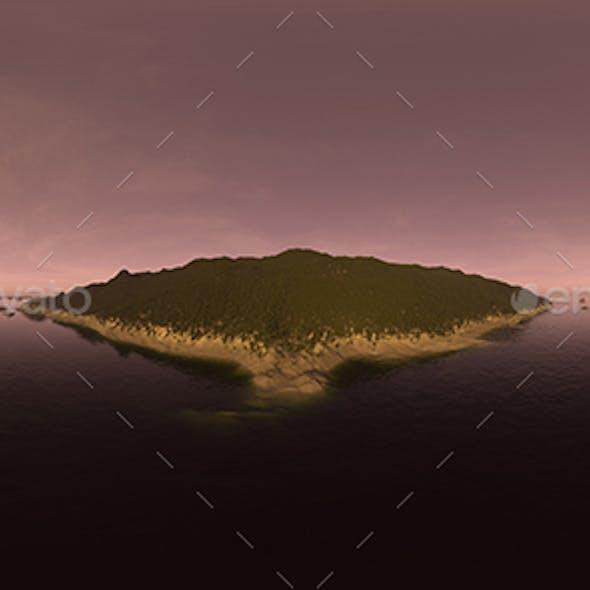 Evening Ocean Island HDRI Sky