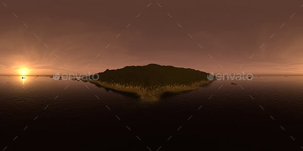 Late Evening Ocean Island HDRI Sky - 3DOcean Item for Sale
