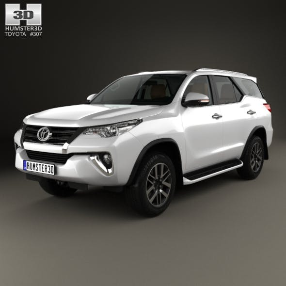 Toyota Fortuner with HQ interior 2016 - 3DOcean Item for Sale