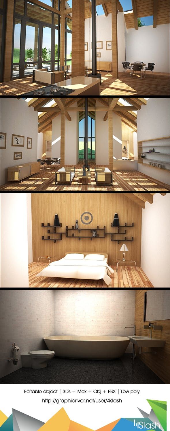 Elegant House Interior - 3DOcean Item for Sale