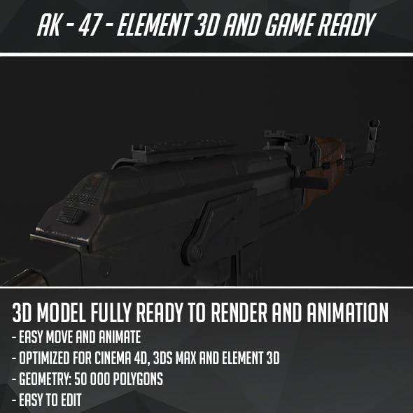 Ak 47 CG Textures & 3D Models from 3DOcean