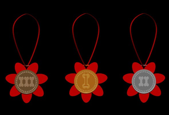 dog prize medals - 3DOcean Item for Sale