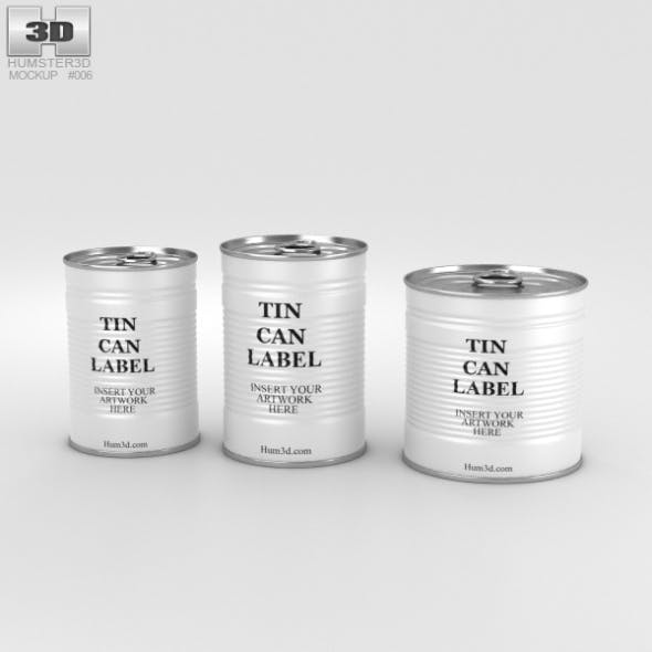 Tin Can Set - 3DOcean Item for Sale