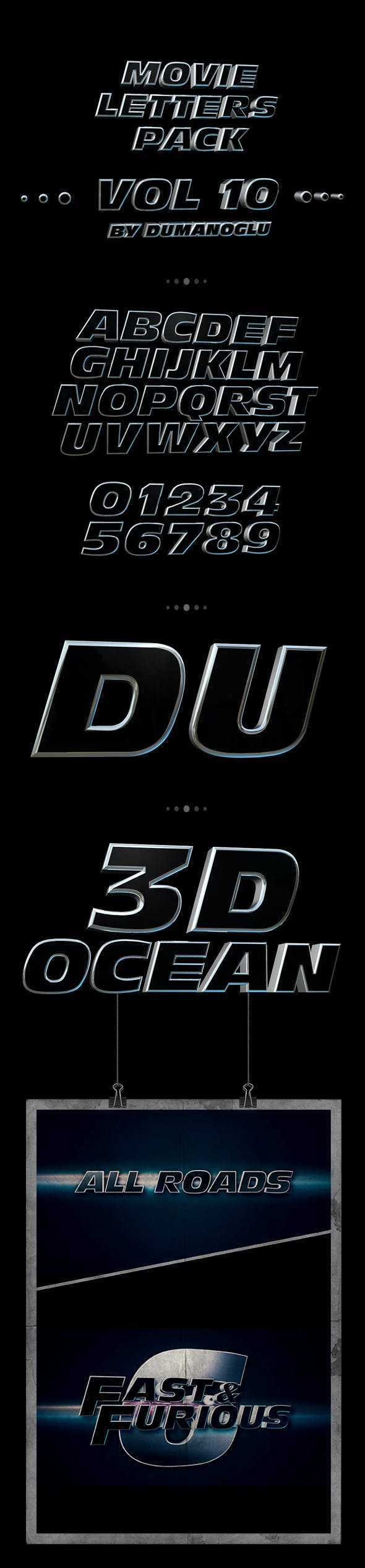 Fast & Furious 6 | Alphabet Pack - 3DOcean Item for Sale
