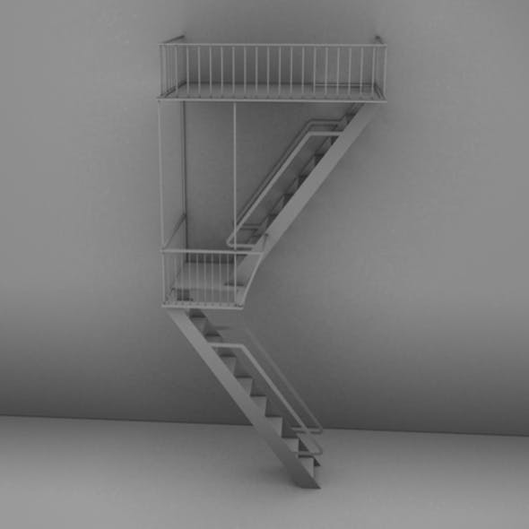 Detailed High Poly Fire Escape