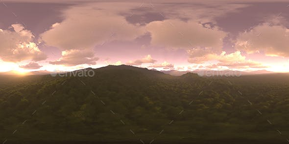 Late Evening Forest HDRI Sky - 3DOcean Item for Sale
