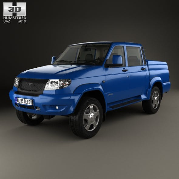 UAZ Patriot (23632) Pickup with HQ interior 2013 - 3DOcean Item for Sale