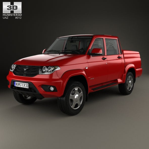 UAZ Patriot (23632) Pickup with HQ interior 2014 - 3DOcean Item for Sale