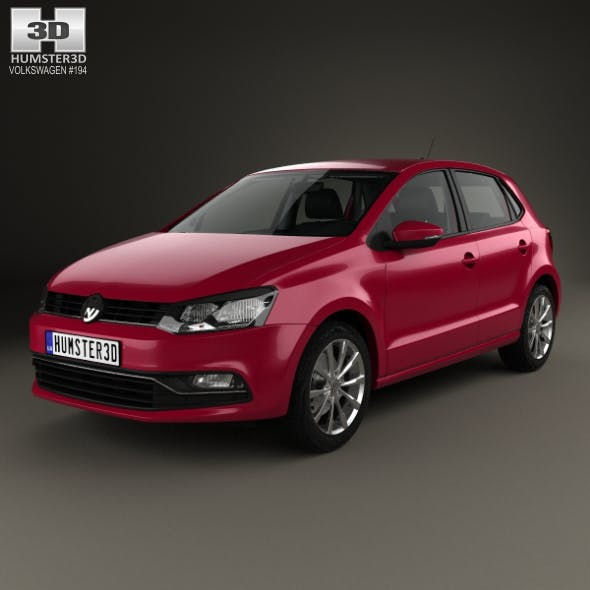 Volkswagen Polo 5-door with HQ interior 2014 - 3DOcean Item for Sale