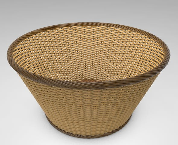 3D Wicker Basket - 3DOcean Item for Sale
